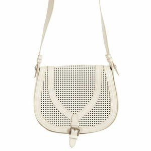 Just Cavalli Leather White Crossbody Shoulder Bag